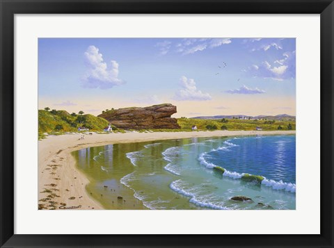 Framed Sachuest Beach Print