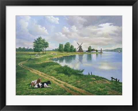Framed Dutch Landscape Print