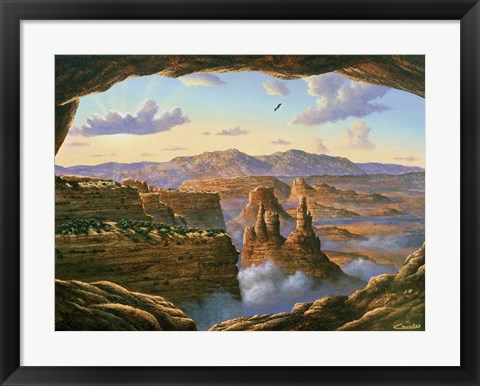 Framed Island In The Sky - Canyonlands Print