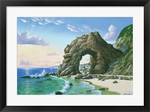 Framed Arch Near Topanga Beach 1905 Print