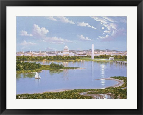 Framed Washington, D. C. In 1885 Print