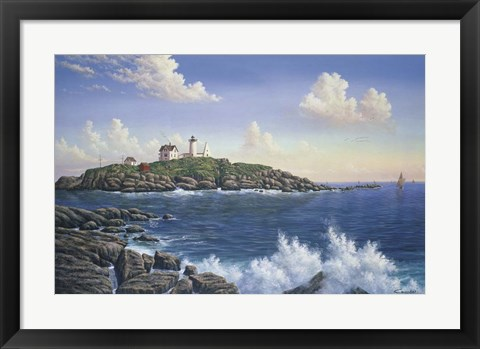 Framed Cape Neddick - Maine Print