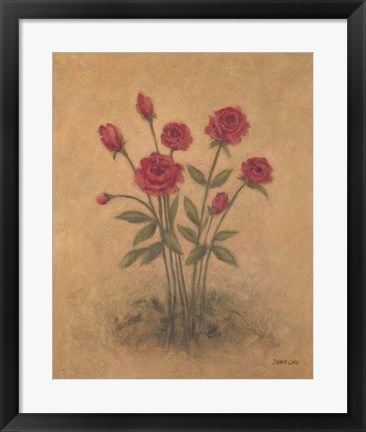 Framed Bunch of Red Roses 2 Print