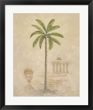 Framed Palm With Architecture 3 Print
