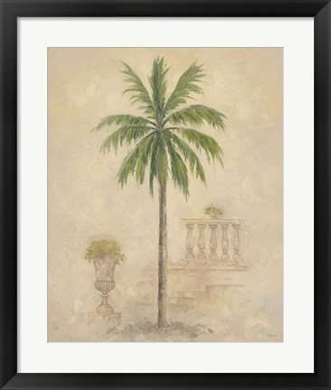 Framed Palm With Architecture 4 Print