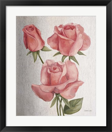 Framed American Classic Rose Print