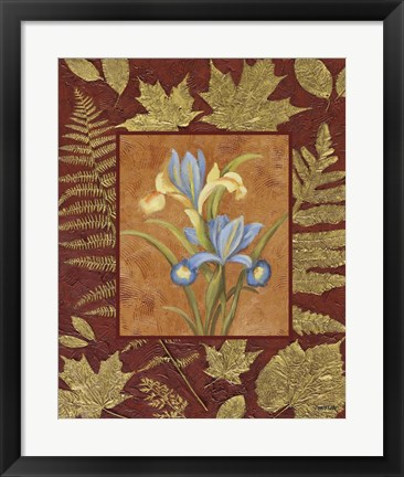 Framed Flowers With Leaf Border Print