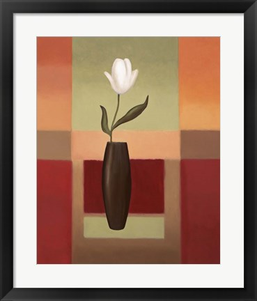 Framed Black Vase 1 Print