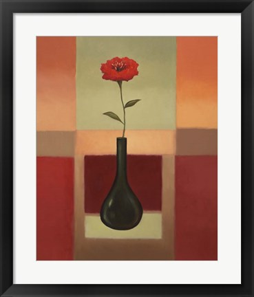 Framed Black Vase 2 Print