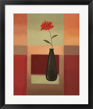 Framed Black Vase 4 Print