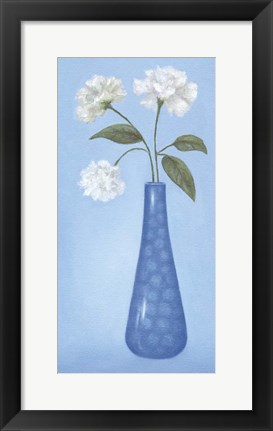 Framed Blue Vase 1 Print