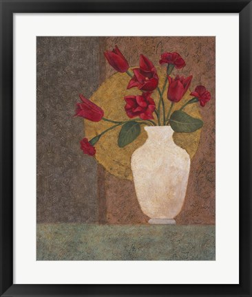 Framed Red Tulips Print