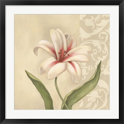 Framed Cream Lily Print
