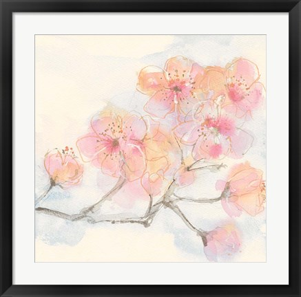 Framed Pink Blossoms III Print