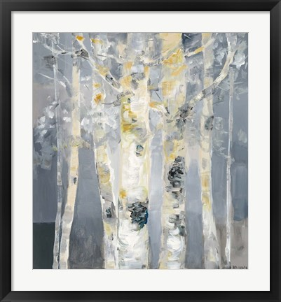 Framed Forest at Dusk Print