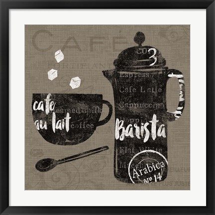 Framed Linen Coffee II Print