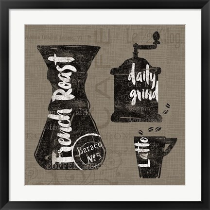 Framed Linen Coffee IV Print
