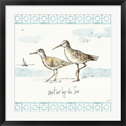 Framed Sandpiper Sea IV Print