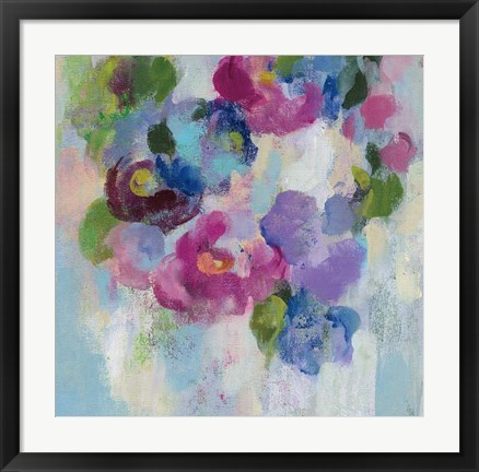 Framed Pink and Blue II Print