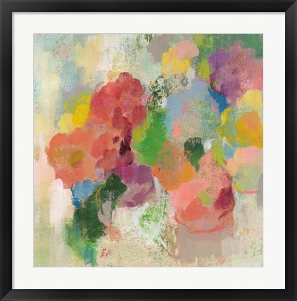 Framed Colorful Garden III Print