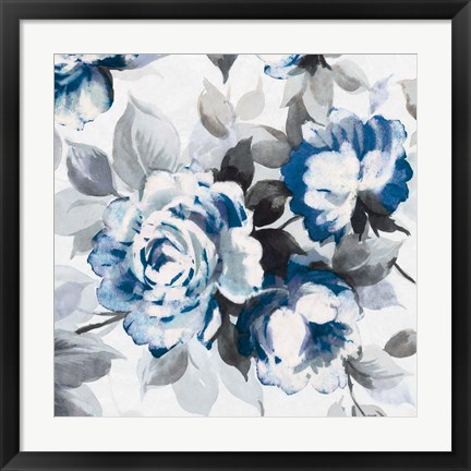 Framed Scent of Roses Indigo III Print