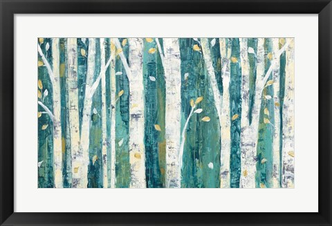 Framed Birches in Spring Print