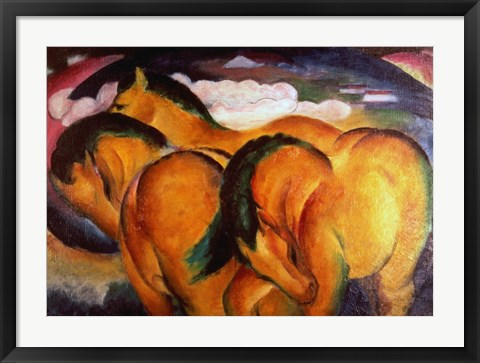 Framed Little Yellow Horses, 1912 Print
