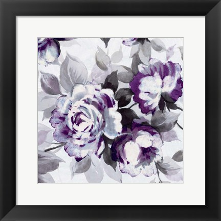 Framed Scent of Roses Plum III Print