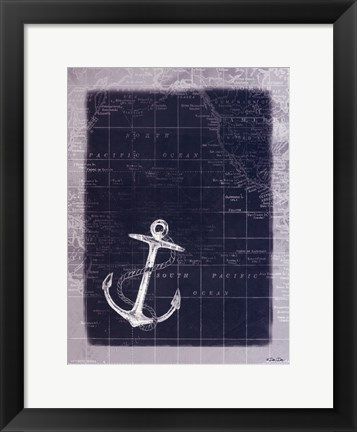 Framed Anchor Map Print