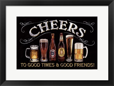 Framed Cheers Print
