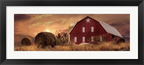 Framed Bedford County Sunset Print