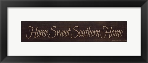 Framed Home Sweet Southern Home Print