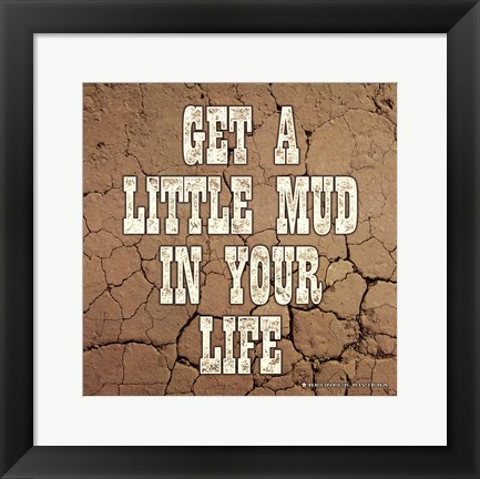 Framed Little Mud Print
