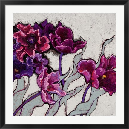 Framed Ruffled Tulips Print