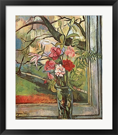 Framed Bouquet Of Flowers Print