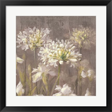 Framed Spring Blossoms Neutral IV Print