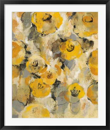 Framed Yellow Floral II Print