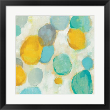 Framed Painted Pebbles II Print