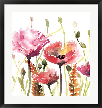 Framed Blooms And Buds Print