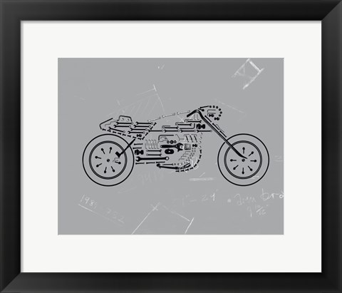 Framed Mechanics III Print