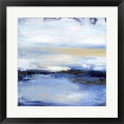 Framed Dreaming Blue II Print