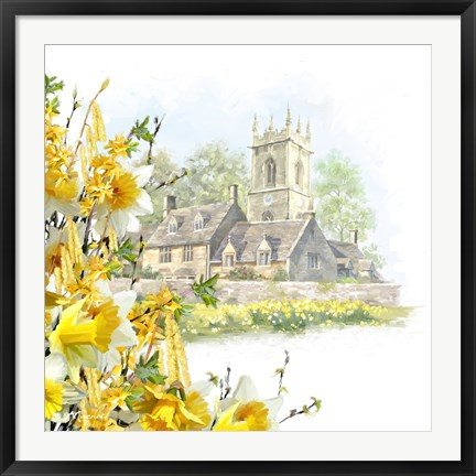 Framed Easter Scene Print