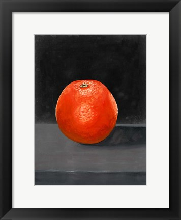 Framed Fruit on Shelf II Print
