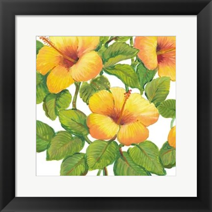 Framed Watercolor Hibiscus III Print