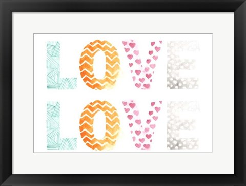 Framed Pattern Sentiment I Print