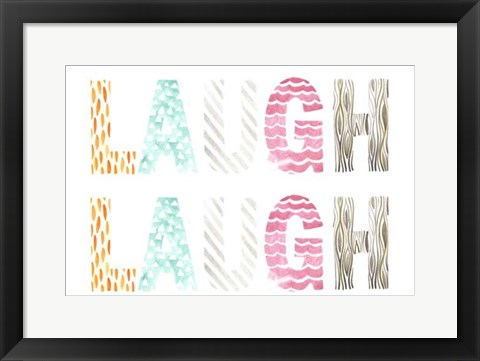 Framed Pattern Sentiment II Print