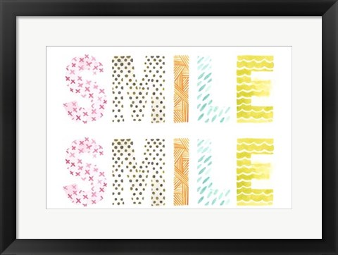 Framed Pattern Sentiment III Print