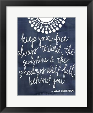 Framed Sun Quote II Print