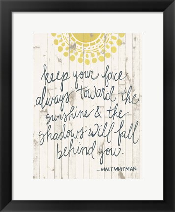 Framed Sun Quote III Print