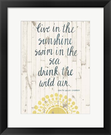 Framed Sun Quote IV Print